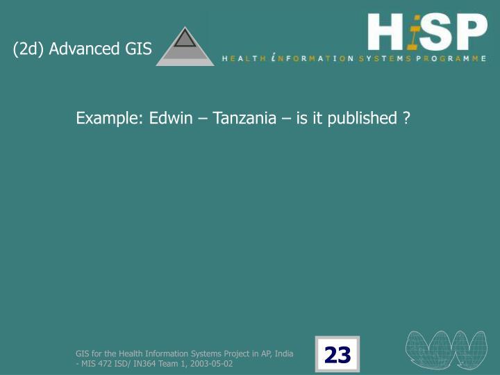 (2d) Advanced GIS