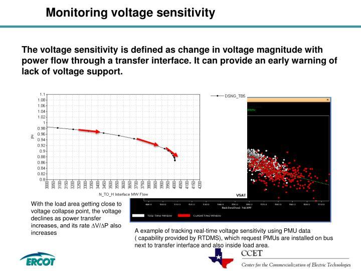 Monitoring voltage sensitivity