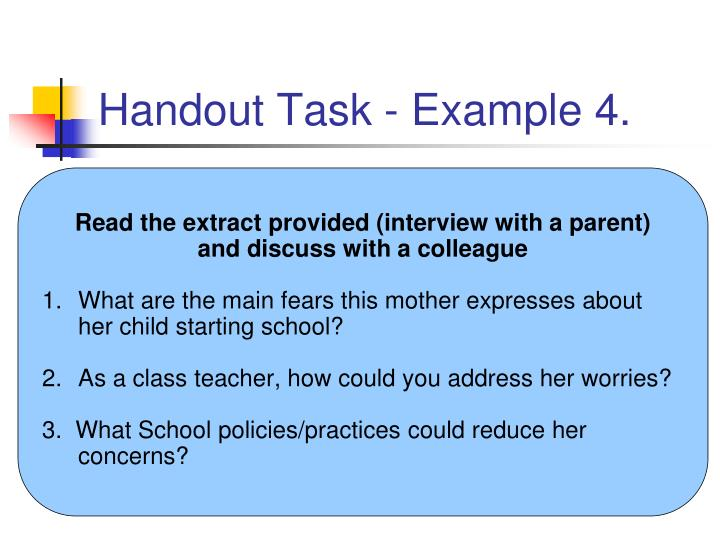 Handout Task - Example 4.