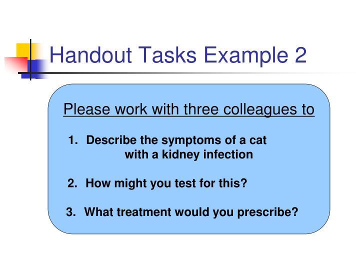 Handout Tasks Example 2