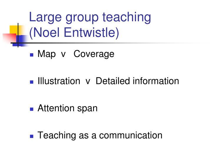 Large group teaching