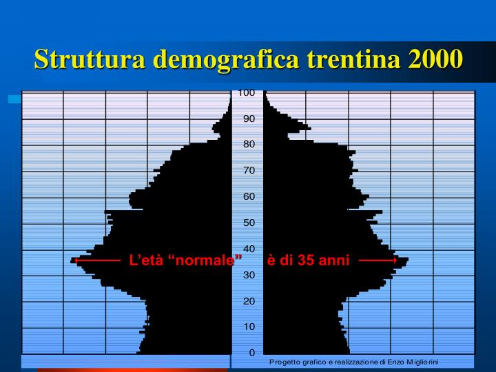 Struttura demografica trentina 2000