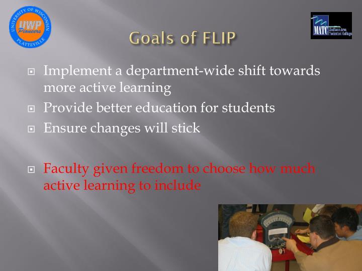 Goals of FLIP