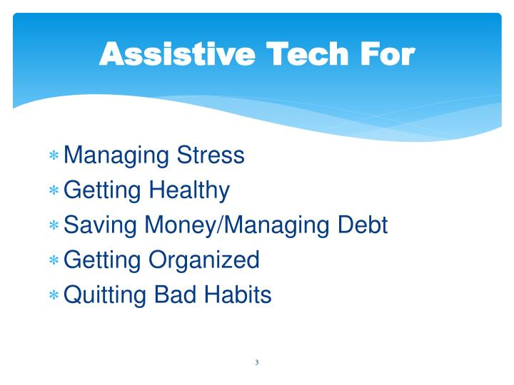 Assistive Tech For