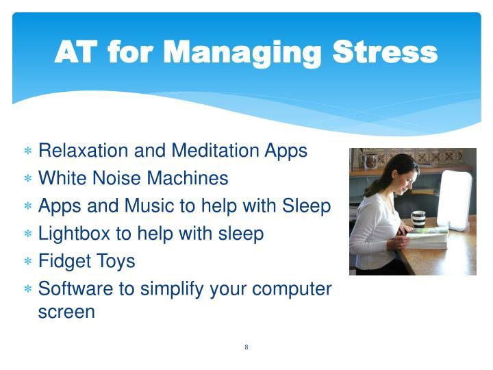 AT for Managing Stress