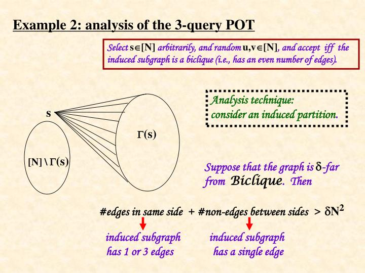 Example 2: analysis of the 3-query POT