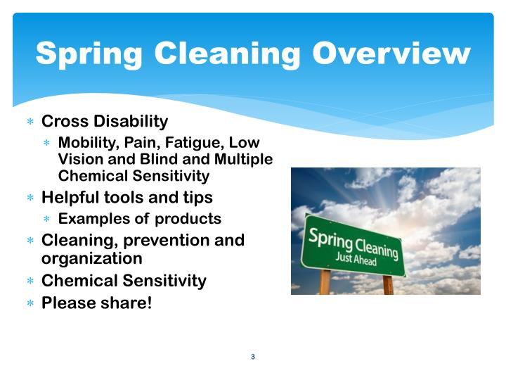 Spring Cleaning Overview
