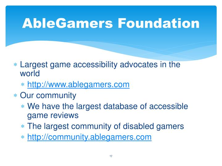 AbleGamers Foundation