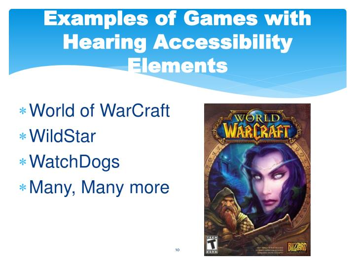 Examples of Games with Hearing Accessibility Elements