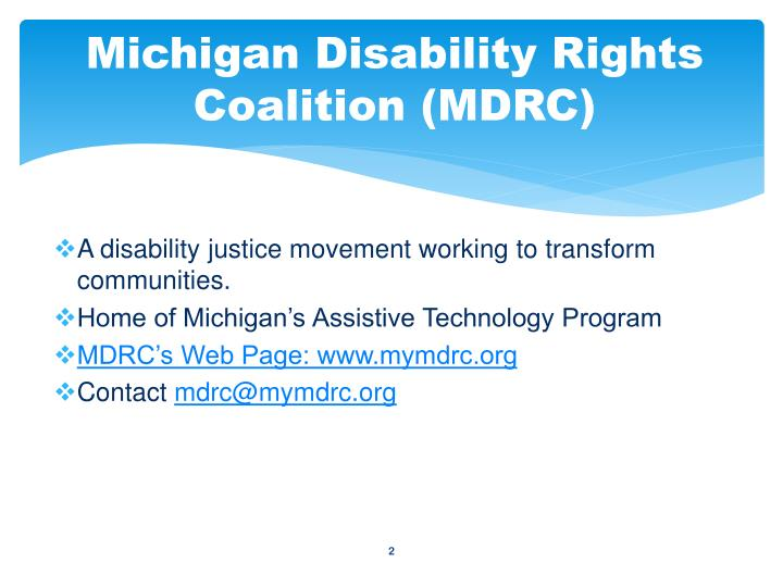 Michigan Disability Rights Coalition (MDRC)
