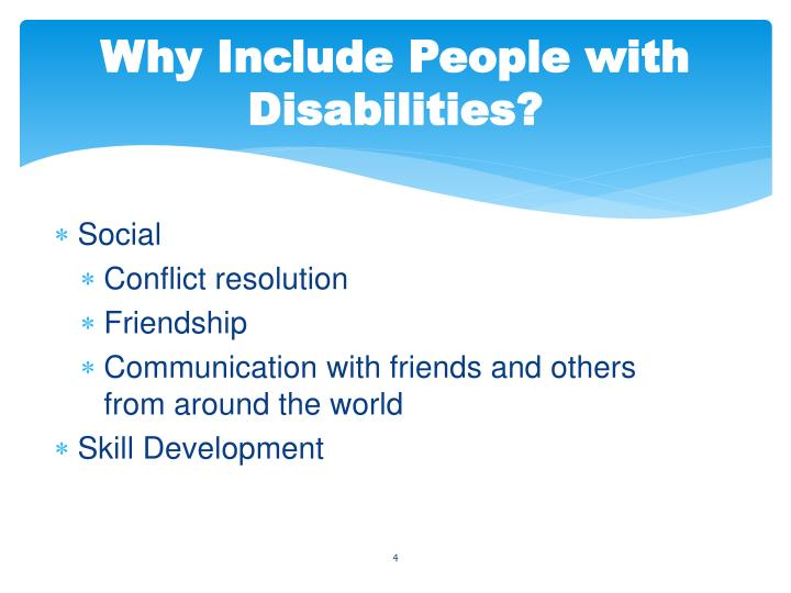 Why Include People with Disabilities?