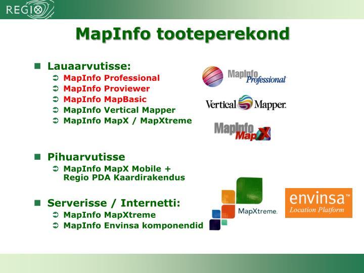 MapInfo tooteperekond