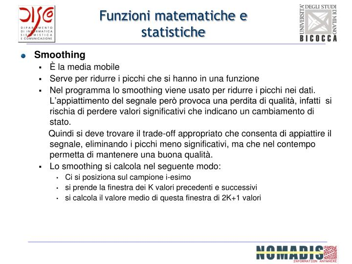 Funzioni matematiche e statistiche