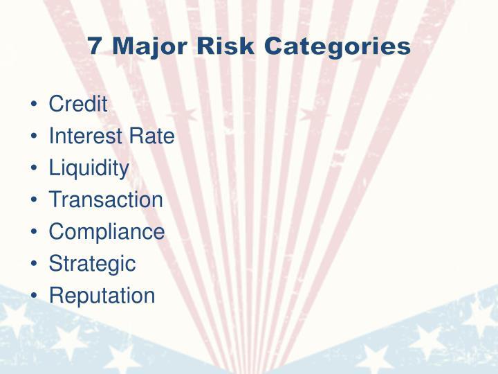 7 Major Risk Categories