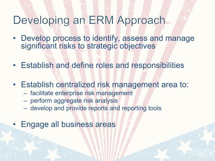 Developing an ERM Approach