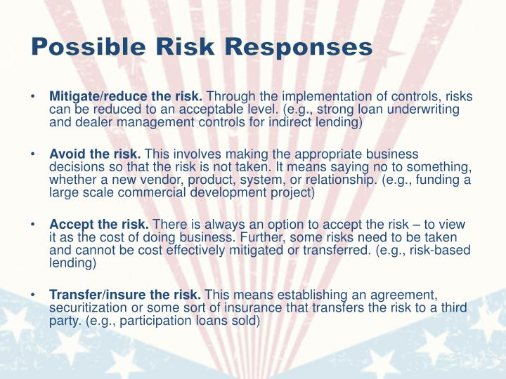 Possible Risk Responses