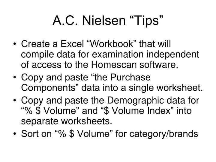 "A.C. Nielsen ""Tips"""