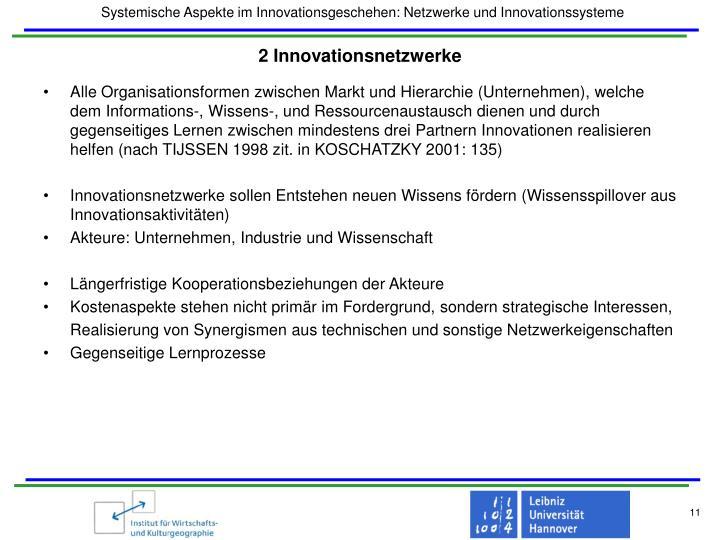 2 Innovationsnetzwerke