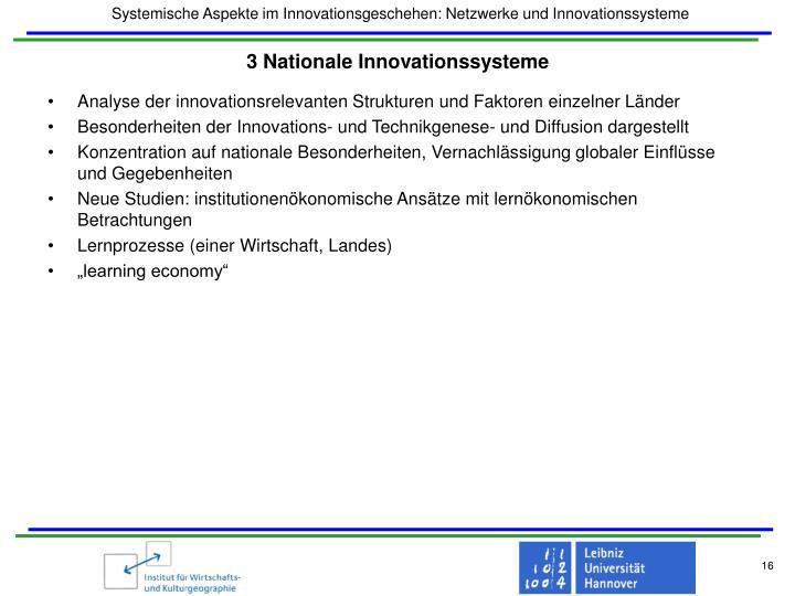 3 Nationale Innovationssysteme