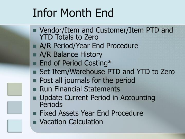 Infor Month End