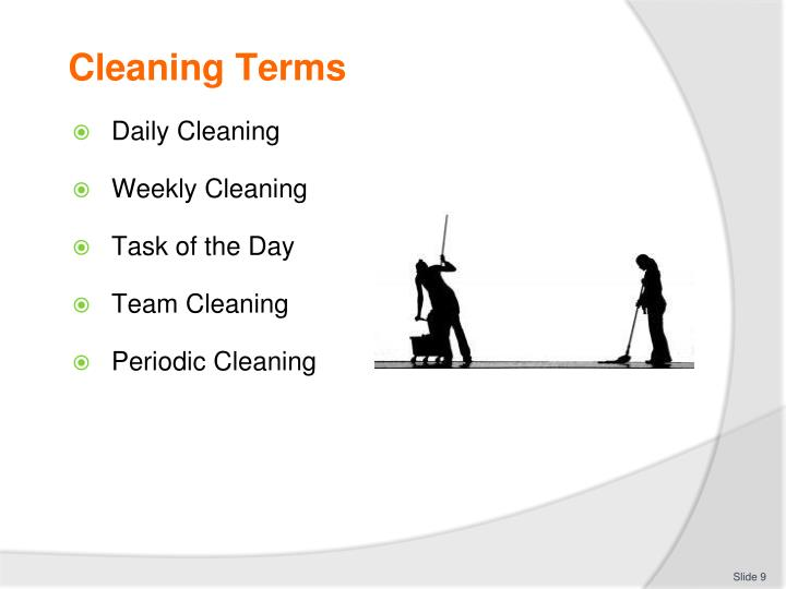 Cleaning Terms