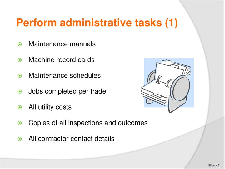 Perform administrative tasks (1)