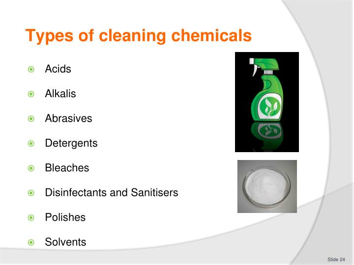 Types of cleaning chemicals