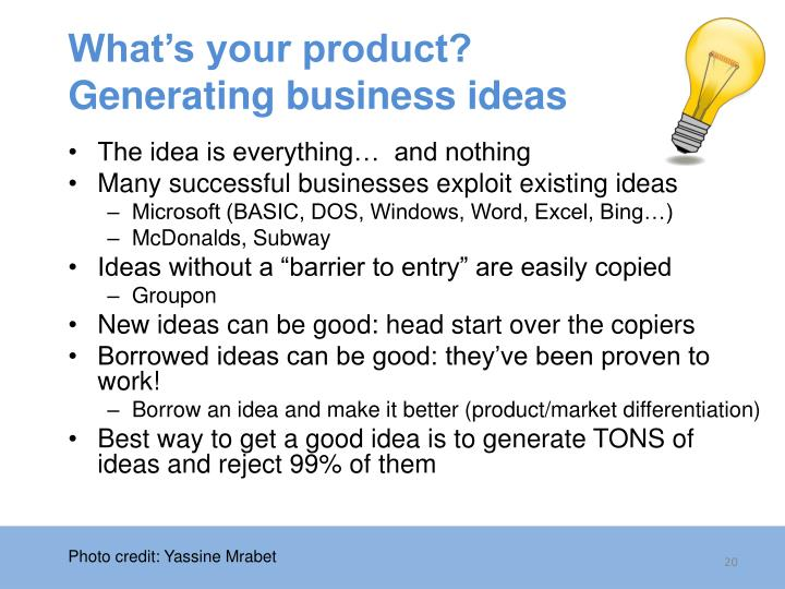 What's your product?