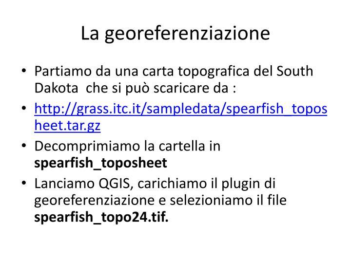 La georeferenziazione