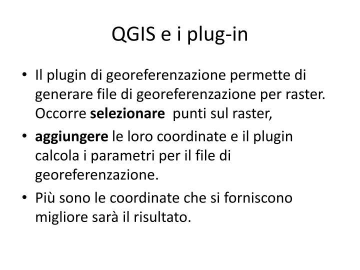 QGIS e i plug-in
