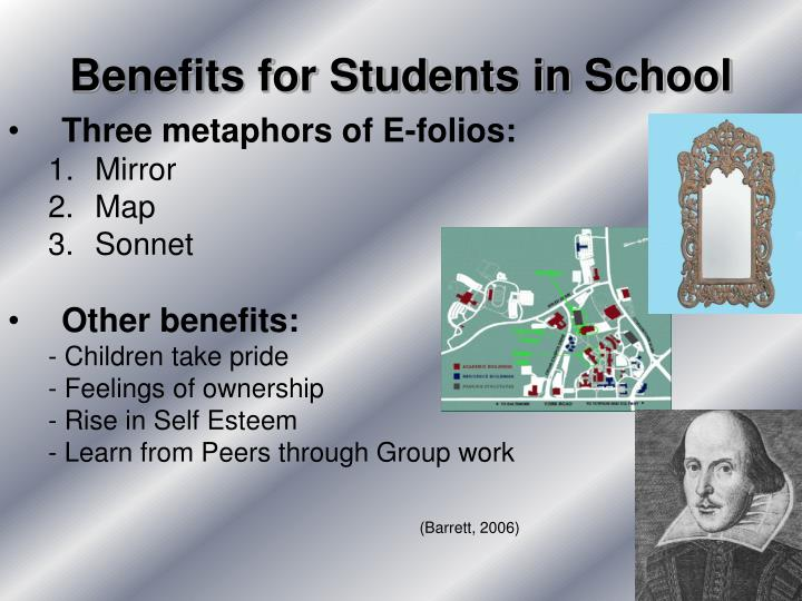 Benefits for Students in School