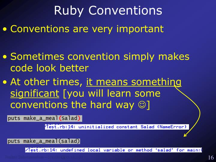 Ruby Conventions