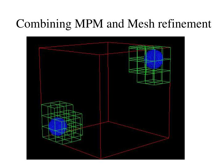 Combining MPM and Mesh refinement