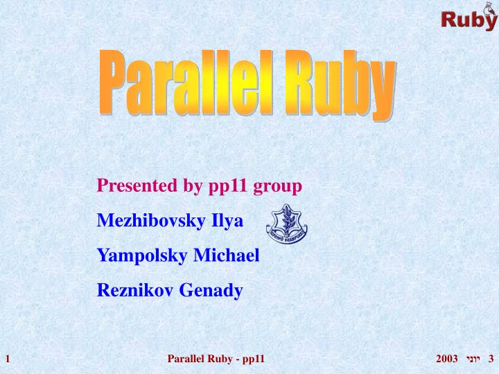 Presented by pp11 group