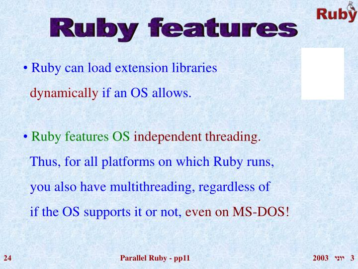 Ruby features