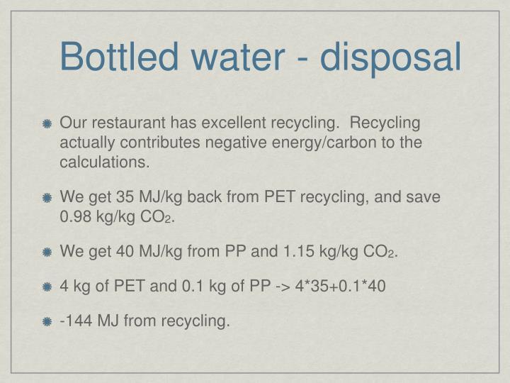 Bottled water - disposal
