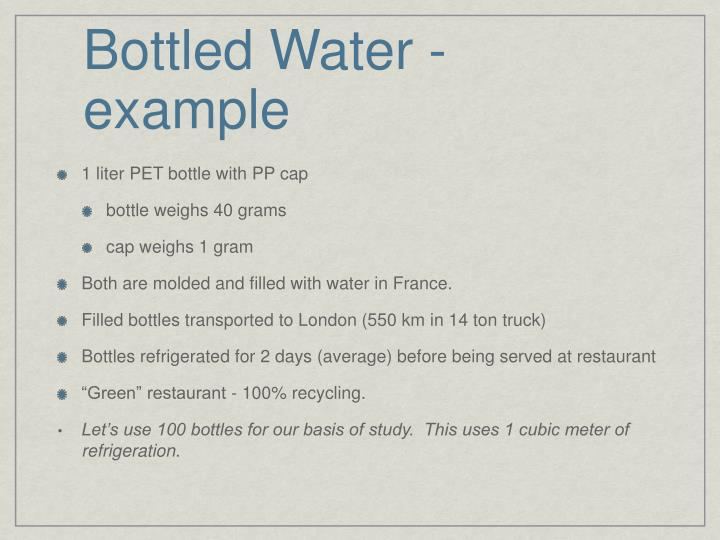 Bottled Water - example