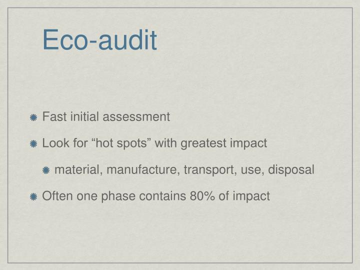 Eco-audit