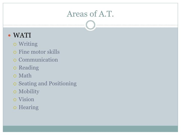 Areas of A.T.