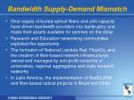 bandwidth supply demand mismatch