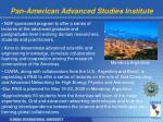 pan american advanced studies institute