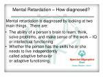mental retardation how diagnosed