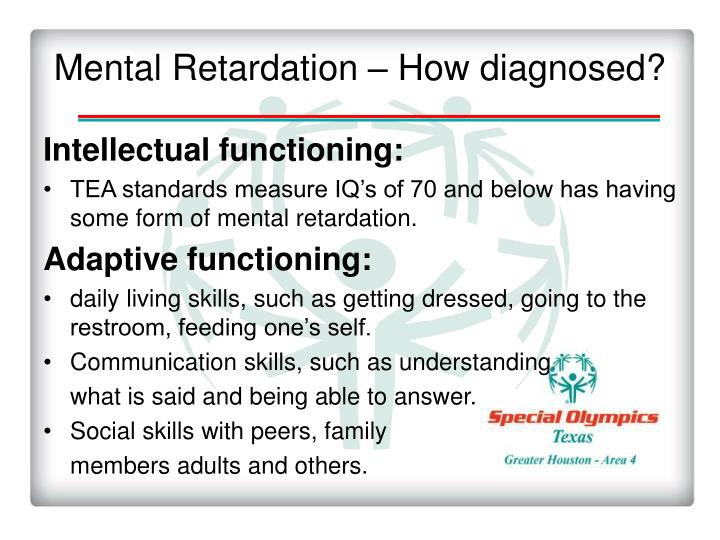 Mental Retardation – How diagnosed?