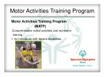 motor activities training program