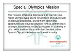 special olympics mission