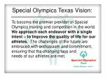 special olympics texas vision