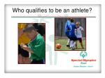 who qualifies to be an athlete