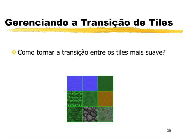 Gerenciando a Transição de Tiles