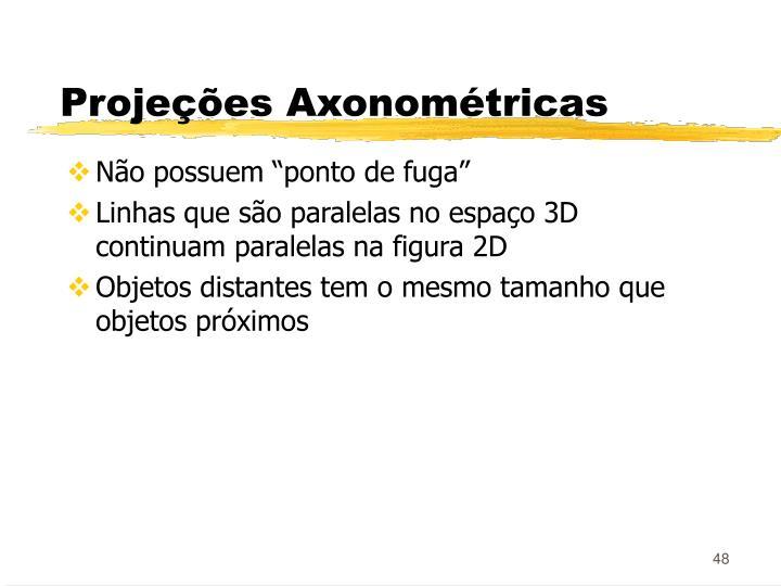 Projeções Axonométricas
