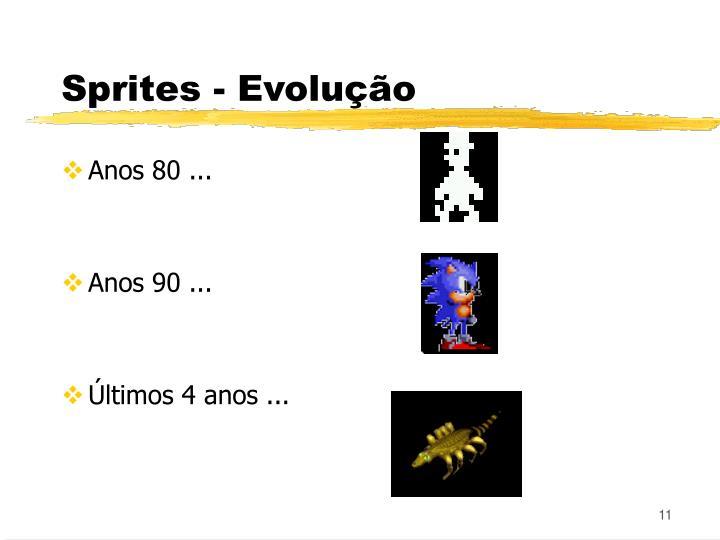 Sprites - Evolução